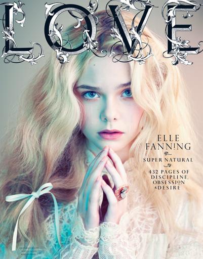 Эль Фаннинг на обложке журнала Love