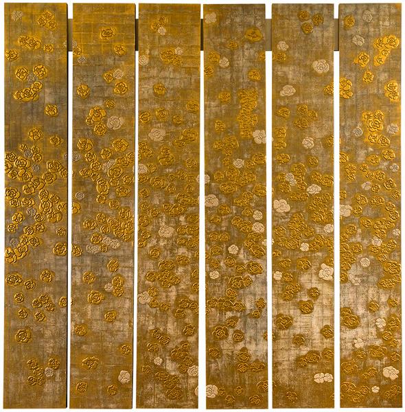 Лаковая панель работы Нэнси Лоренц для интерьера бутика Chanel в Дубаи, www. nancy- lorenz.com