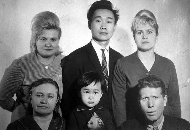 Виктор Цой, отец Робер Цой, мама Валентина Цой