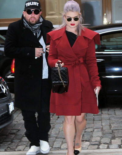 Келли Осборн (Kelly Osbourne) направляется на показ J. Mendel в рамках Недели моды в Нью-Йорке