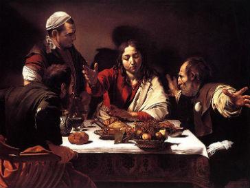 Полотно Караваджо «Ужин в Эммаусе»