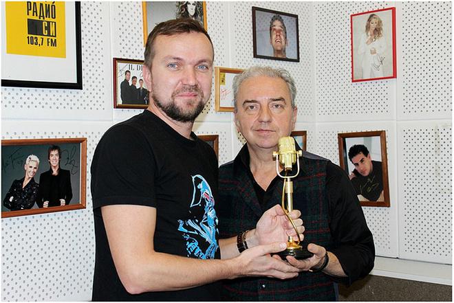 """Владимир Шахрин с Андреем Королевым, ведущим """"Радио СИ"""", фото"""