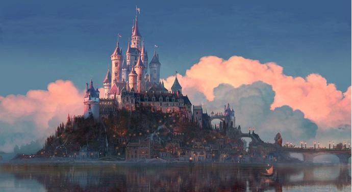 Замок из мультфильма «Рапунцель: запутанная история»
