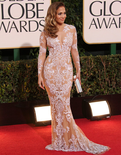 "Дженнифер Лопес (Jennifer Lopez) на ""Золотом глобусе""-2013"