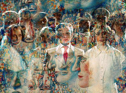 Экспонат выставки Питера Гринуэя и Саскии Боддеке «Золотой век русского авангарда»