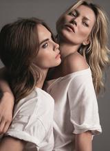 Кара Делевинь и Кейт Мосс стали лицами новой рекламной кампании Mango