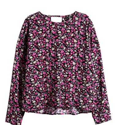 Тканая блузка с цветочным принтом