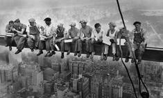 фотографии знаменитый обед небоскребе
