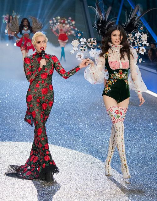 Леди Гага показалась в нижнем белье