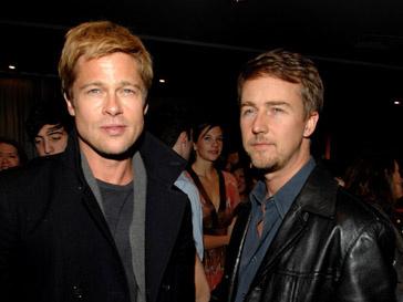 Эдварт Нортон (Edward Norton) и Брэд Питт (Brad Pitt) вместе снимались в фильме «Бойцовский клуб»