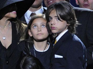 Дети Майкла Джексона на церемонии прощания с ним