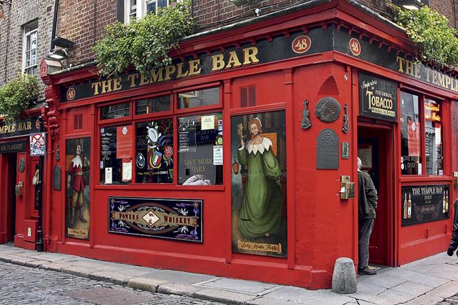 The Temple Bar — лучший музыкальный паб Дублина.