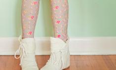 Модные тренды: колготки с цветами
