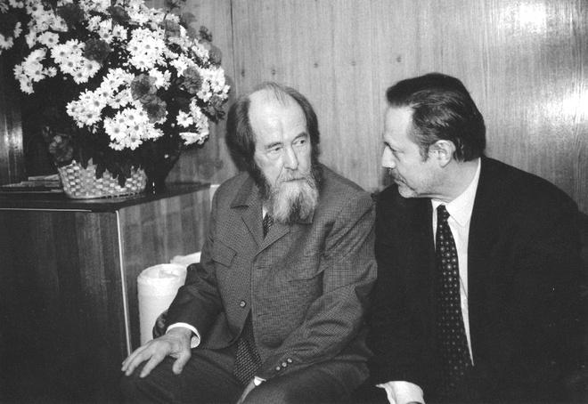 Юрий Соломин. С Александром Солженицыным