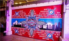 Выставка лондонских граффити. Фото