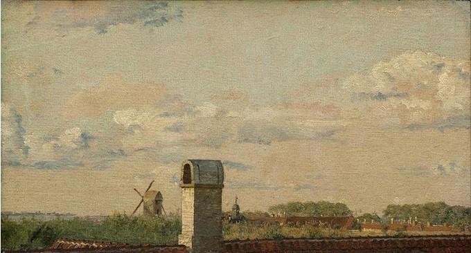 Кристен Кебке, «Вид из окна в Толбодвее на крепость Копенгагена»