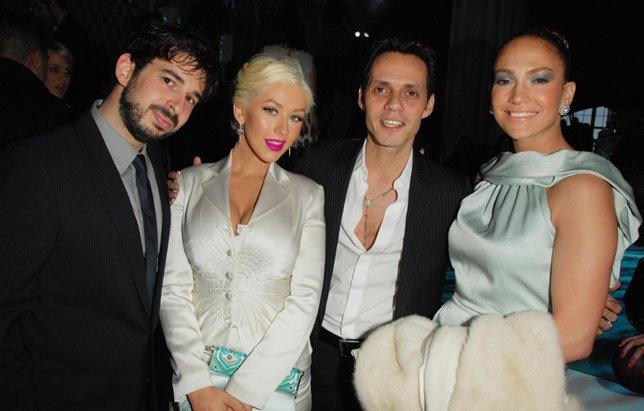 Кристина Агилера и Дженнифер Лопез с мужьями
