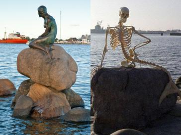 Маленькая Русалочка в Копенгагене