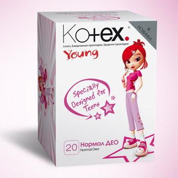 Ежедневные прокладки Kotex Young.
