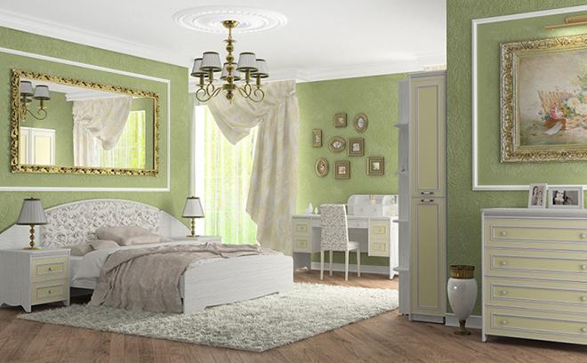 Белорусская мебель купить в Ростове-на-Дону, спальня «Стрекоза-пастель»