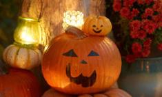 Делаем подсвечник из тыквы на Хэллоуин