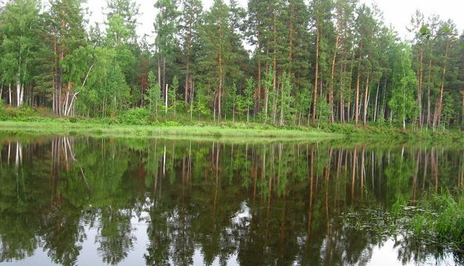 Монастырское озеро в Красноярском крае