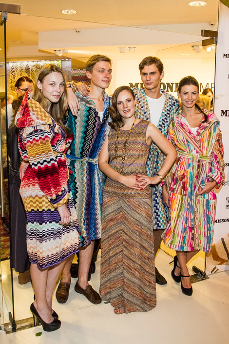 Анна Анненкова и модели в новой коллекции домашнего текстиля Missoni (3)