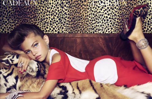 Тайлен Блондо (Thylane Lena-Rose Blondeau) всего 10 лет, но она уже участвует в откровенных фотосессиях