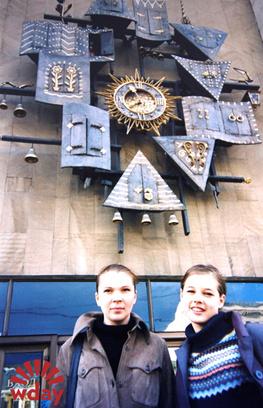 2000 год. На гастролях с театром «КОД»