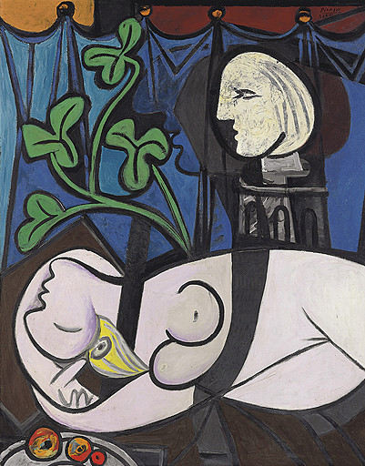 «Обнаженная, зеленые листья и бюст», Пабло Пикассо