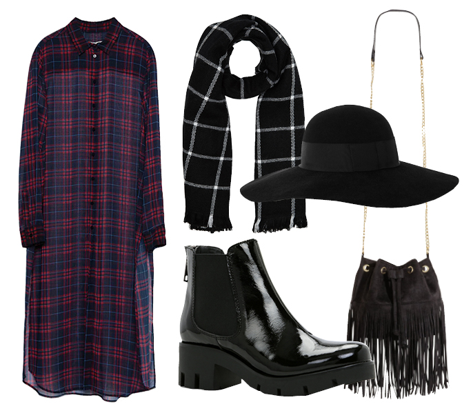 Выбор ELLE: шляпа Eugenia Kim, сумка H&M, шарф Aldo, ботинки Aldo