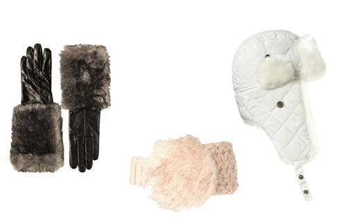 Перчатки Zara, повзяка на голову River Island, шапка TopShop