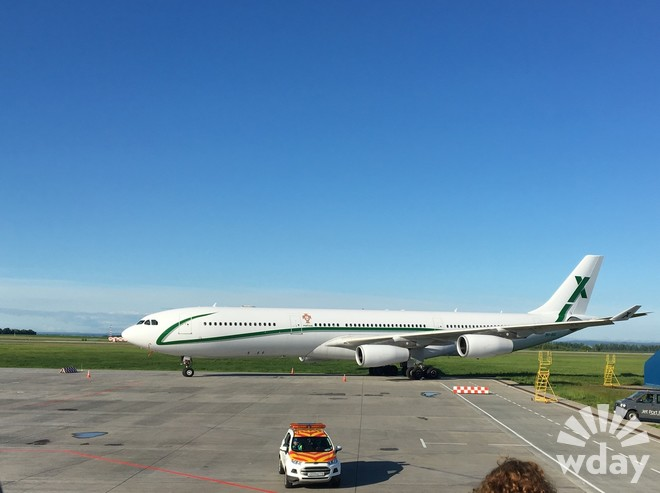 Самолет сборной Португалии