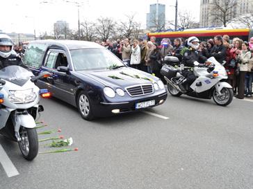 Траурная процессия в Польше
