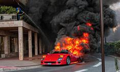 красивое печальное зрелище монте-карло сгорел редкий ferrari миллион