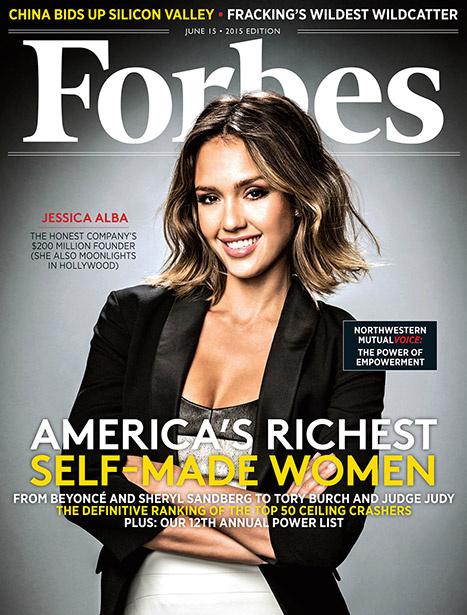Джессика Альба на обложке журнала Forbes