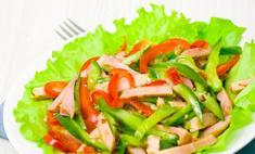 Вариации салата с ветчиной и огурцами