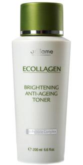 Антивозрастной тоник «Эколлаген», Oriflame. Улучшает цвет лица, тонизирует, успокаивает и разглаживает кожу, уменьшая выраженность морщин.
