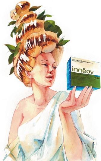 Биологически активная добавка к пище «Innéov Густота волос».