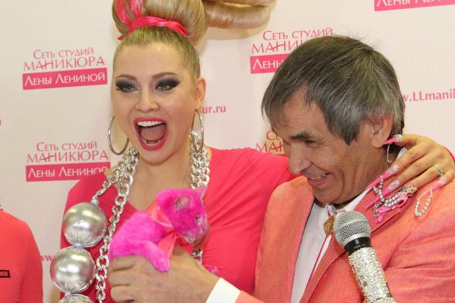 Лена Ленина, Бари Алибасов розовый кот фото