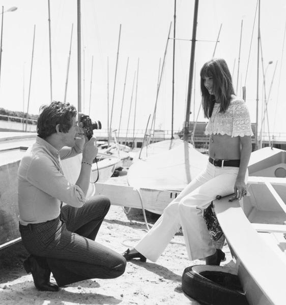 Серж Генсбур и Джейн Биркин в Каннах, 1969 год