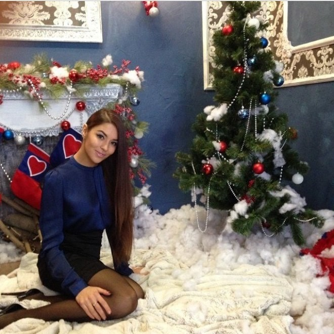 Ольга встретила Новый год с родными и друзьями