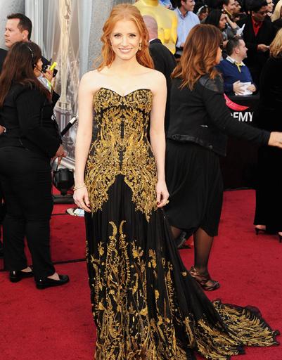 "Джессика Честейн (Jessica Chastain) на ""Оскаре-2012"""