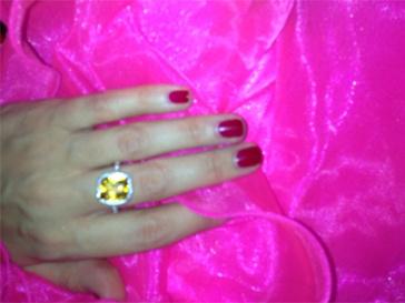 Кольцо, которое подарил Ксении Бородиной Михаил Терехин.