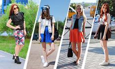 Уличная мода. Девушки в мини-юбках: ах, какие ножки!