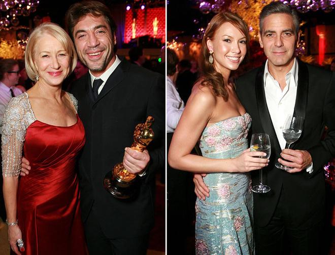Хелен Миррен кокетничала с Хавьером Бардемом, а Джордж Клуни шептался с подругой
