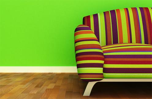 В интерьере должны действовать три основных цвета.