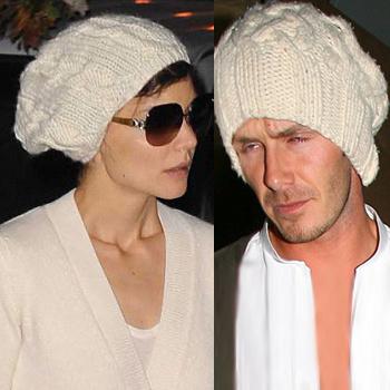 На Дэвиде эта шапка тоже смотрелась нелучшим образом