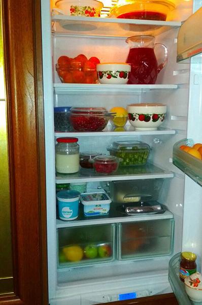 Холодильник вид снаружи и внутри