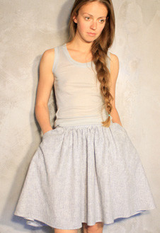 Пышные юбки длиной до колена марки Low Fat – в магазине русских дизайнеров «Русская улица».